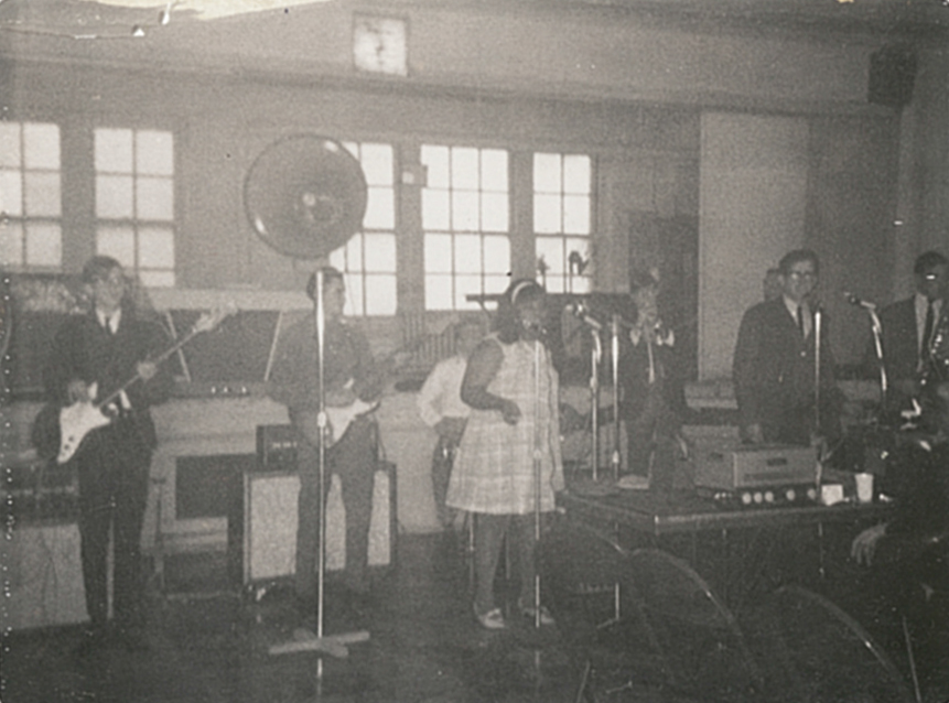 mid 60's. JT & the Soulbinders auditioning for a local TV talent show, Dale Turner on bass and cousin Jack Turner on vocals