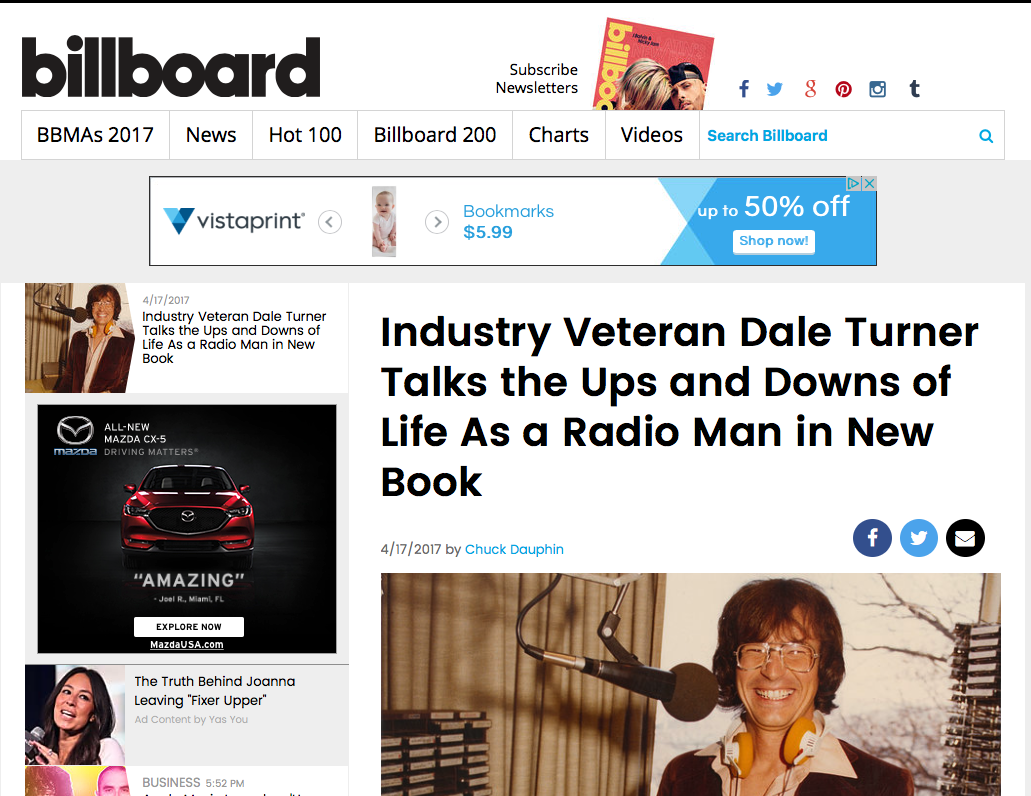 An article in Billboard Magazine about Dale Turner's book