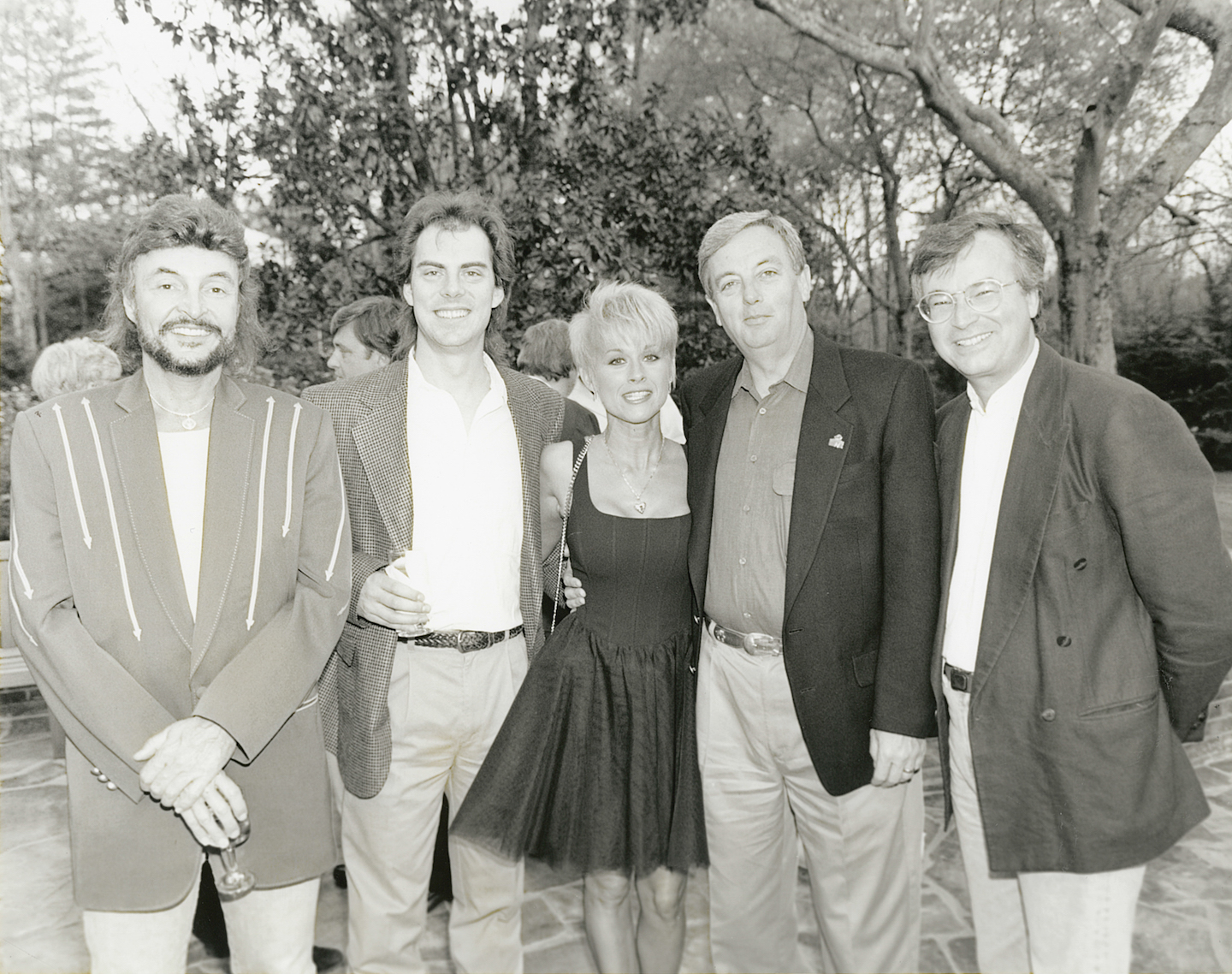 Dale Turner at a home gathering with Lorrie Morgan, Mac Daniel, Coyote Calhoun, and Les Acres