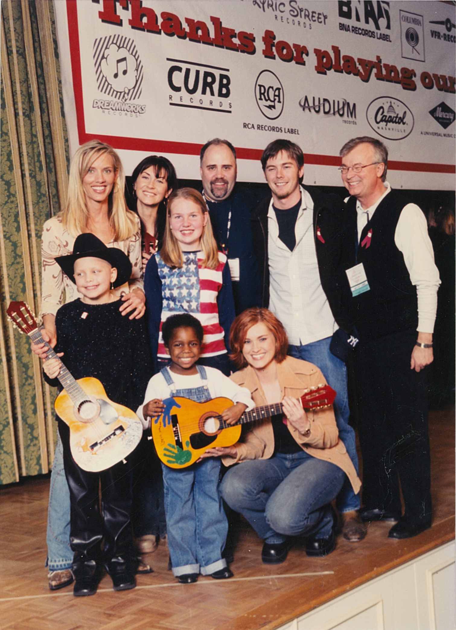 In Memphis at the annual St. Jude Children's Country Cares Seminar with SheDaisy, Brian McComas and patients of the hospital plus Lyric Street's Kevin Herring and Dale Turner